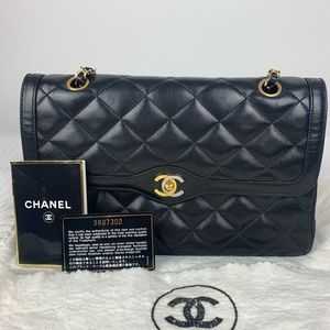 """Chanel limited """"Paris edition"""" double flap bag"""